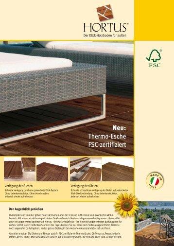 Neu: Thermo-Esche FSC-zertifiziert - Ziro