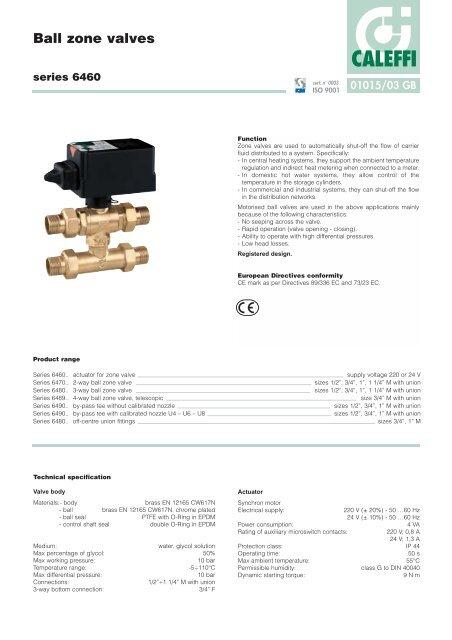 caleffi zone valve wiring diagram ball zone valves series 6460 caleffi  ball zone valves series 6460 caleffi