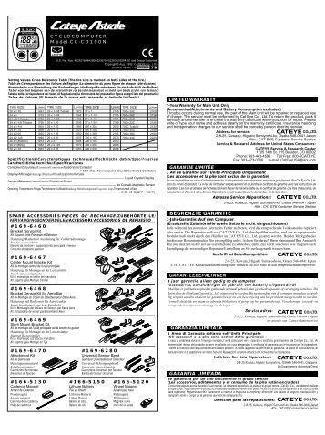 cateye velo 2 user manual