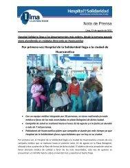 hospital solidario llega a los departamentos más pobres, desde la ...