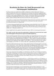 Resolution des Rates der Stadt Bergneustadt ... - CDU Bergneustadt