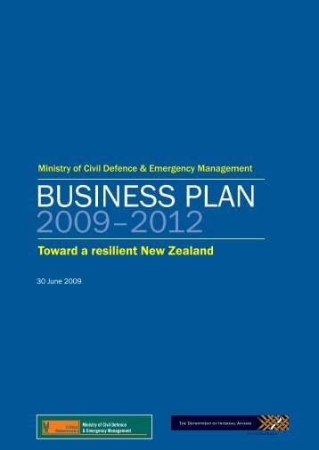 BUSINESS PLAN 2009–2012 - Ministry of Civil Defence and ...