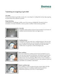 Vejledning om rengøring af gulvafløb - Domea