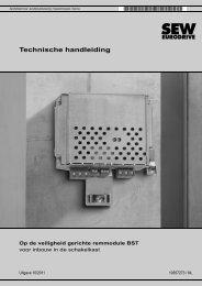 Op de veiligheid gerichte remmodule BST voor ... - SEW-Eurodrive