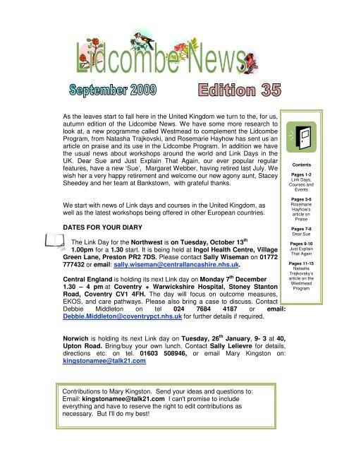 September 2009 – Lidcombe News Edition 35th - Montreal Fluency