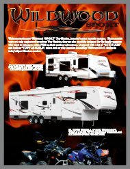 """Welcome to the new Wildwood """"SPORT"""" Toy Hauler ... - RVUSA.com"""