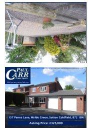 Sales details approved 157 Penns Lane - Paul Carr Estate Agents