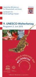 9. UNESCO-Welterbetag am 2. Juni 2013