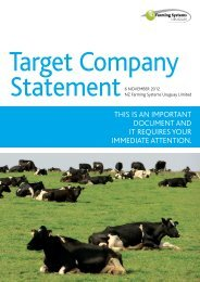 Target Company Statement - NZX