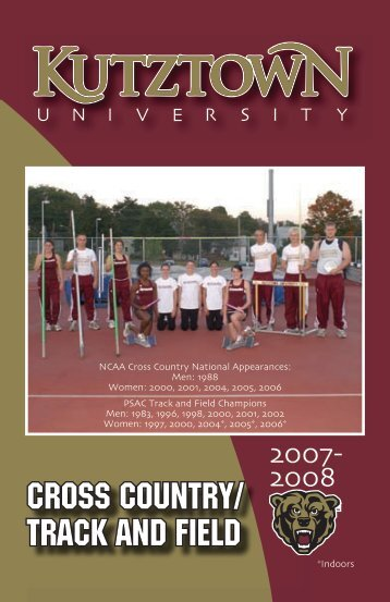 2007-08 Cross Country/Track & Field Media Guide - Kutztown ...