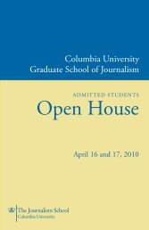 Open House - Columbia University Graduate School of Journalism