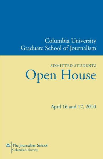 Open House - Columbia University Graduate School of Journalism