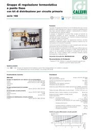 Gruppo di regolazione termostatica a punto fisso con kit di ... - Caleffi