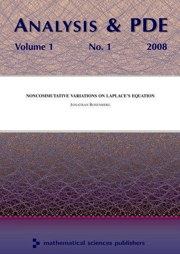 Noncommutative variations on Laplace's equation - Math ...