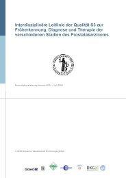 S3 Leitlinien zur Früherkennung, Diagnostik und Therapie der