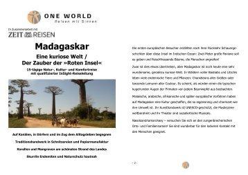 Detailinformation Madagaskar - Eine kuriose Welt 2014