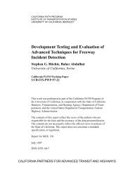 Development Testing and Evaluation of Advanced Techniques for ...