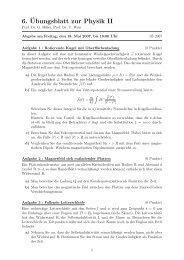 6.¨Ubungsblatt zur Physik II