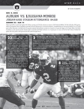 Auburn vs. LouisiAnA-Monroe - Auburn University Athletics