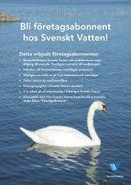 Bli företagsabonnent hos Svenskt Vatten!
