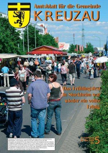 Amtsblatt Nr. 05/2008 vom 30.05.2008 - Gemeinde Kreuzau