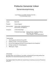 Protokoll vom 09.06.2006 - Gemeinde Volken