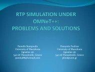 PROBLEMS AND SOLUTIONS - International Workshop on OMNeT++