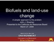 Presentation: 2009-03-27: Biofuels and land-use change