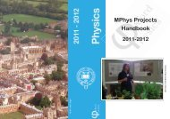 MPhys cover_19September2011.indd - Department of Physics ...