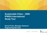 Sustainable Cities – 2009 IPWEA International Study Tour