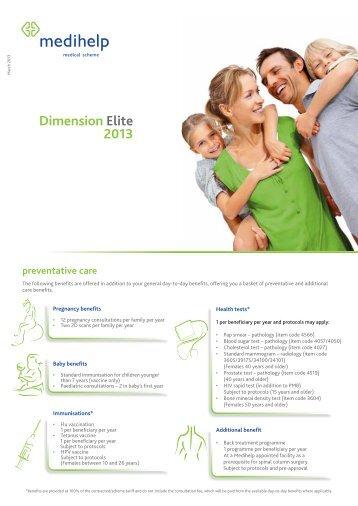 Dimension elite 2013 - Medihelp