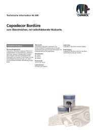 Capadecor Bordüre zum Überstreichen, mit selbstklebender ...