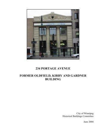 234 PORTAGE AVENUE-long - City of Winnipeg