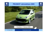 PEUGEOT Jahresbilanz 2005 - PEUGEOT Presse