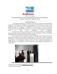 Vol. 10: 2 2010 AUDINEWS - International Society of Audiology