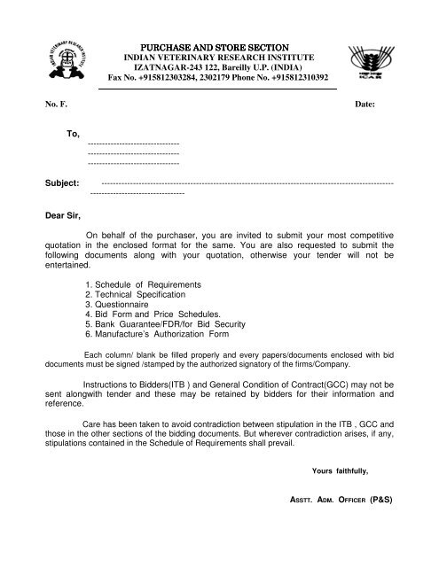 1 of Schedule of Requirements (Section-IV) - Indian