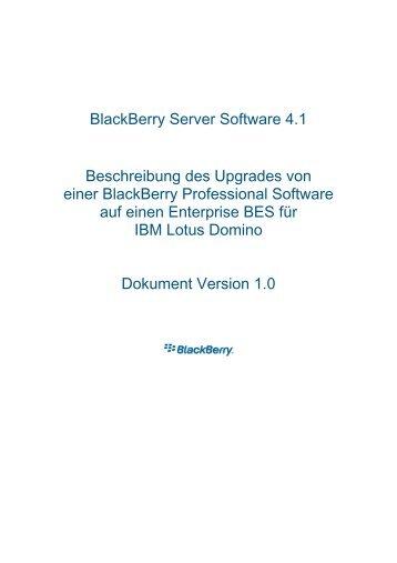 BlackBerry Server Software 4.1 Beschreibung ... - wireless & mobile