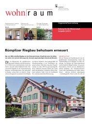 Mieterzeitschrift wohn r a u m 2/2013 - Bern