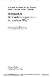 Japanisches Personalmanagement - ein anderer Weg? - ISF München