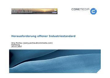 Herausforderung offener Industriestandard - Software Engineering ...