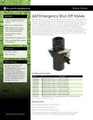 662 Emergency Shut-Off Valves Datasheet - Franklin Fueling Systems