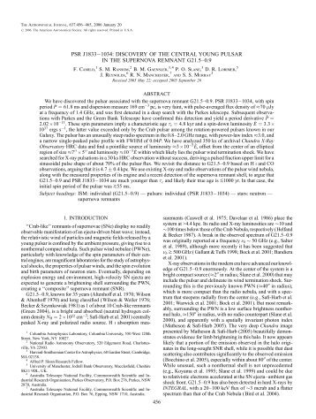 psr j1833ā1034: discovery of the central young pulsar - IOPscience