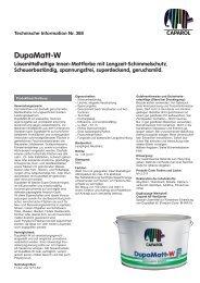 DupaMatt-W Lösemittelhaltige Innen-Mattfarbe mit ...