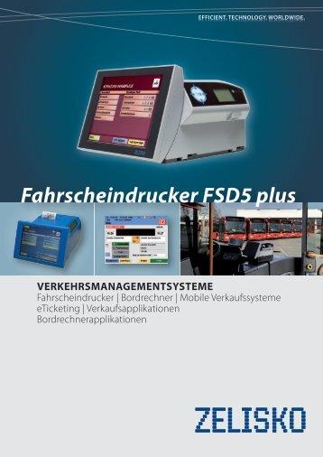Fahrscheindrucker FSD5plus [PDF, 934 kB] - Zelisko