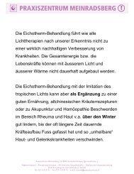 Eichotherm - Stiftung Paracelsus heute