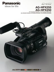 AG-HPX255 AG-HPX250 - Panasonic FTP