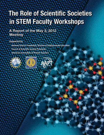 The Role of Scientific Societies in STEM Faculty Workshops