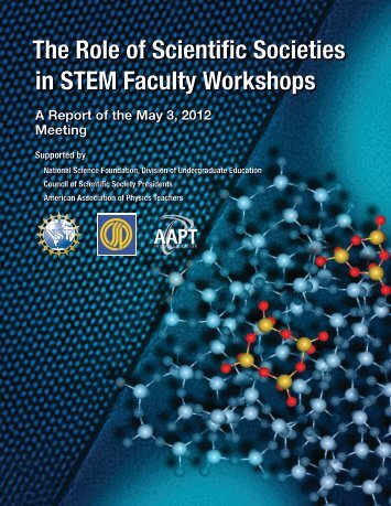The Role of Scientific Societies in STEM Faculty Workshops