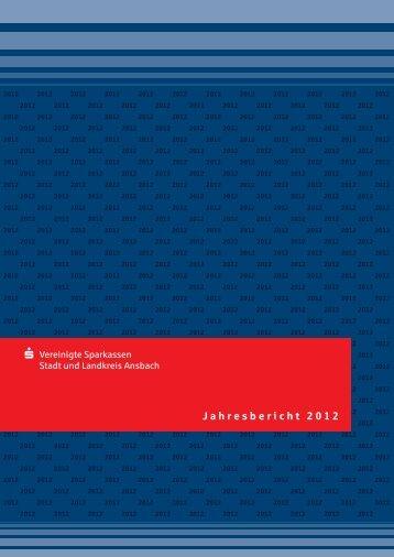 Jahresbericht 2012 - Vereinigte Sparkassen Stadt und Landkreis ...