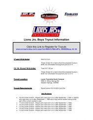 Lions Jrs. Boys Tryout Information - 1st Alliance Volleyball Club